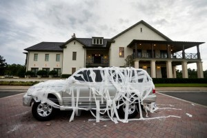 Tagged Car at Crosswater Hall Reception