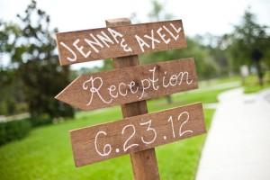 Jenna + Axell's Reception Sign